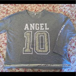 Victoria's Secret Angel Sweatshirt Sz XL